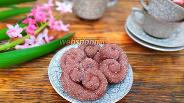 Фото рецепта Песочные шоколадные завитки с сахаром