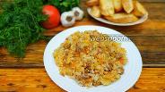 Фото рецепта Рис с фаршем и овощами на сковороде