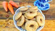 Фото рецепта Постные морковно-ореховые бублики