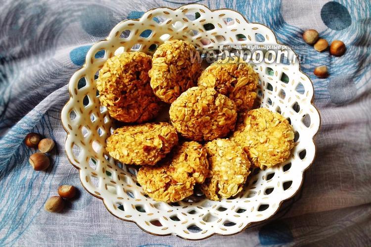 Фото Овсяное печенье с фундуком без муки и яиц