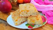 Фото рецепта Бисквитный пирог с мандаринами и яблоками