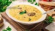 Фото рецепта Сырный суп с консервированной горбушей