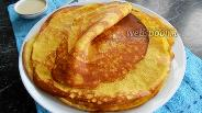 Фото рецепта Блины из кукурузной муки на кефире