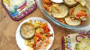 Фото рецепта Тушеные овощи с паприкой и беконом