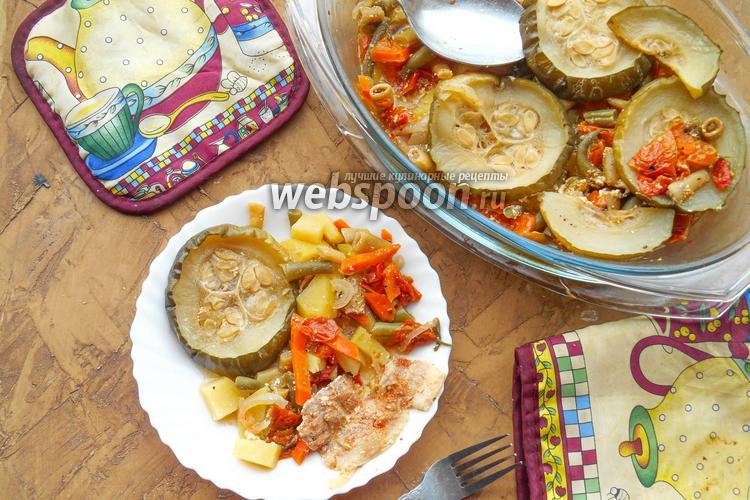 Фото Тушеные овощи с паприкой и беконом