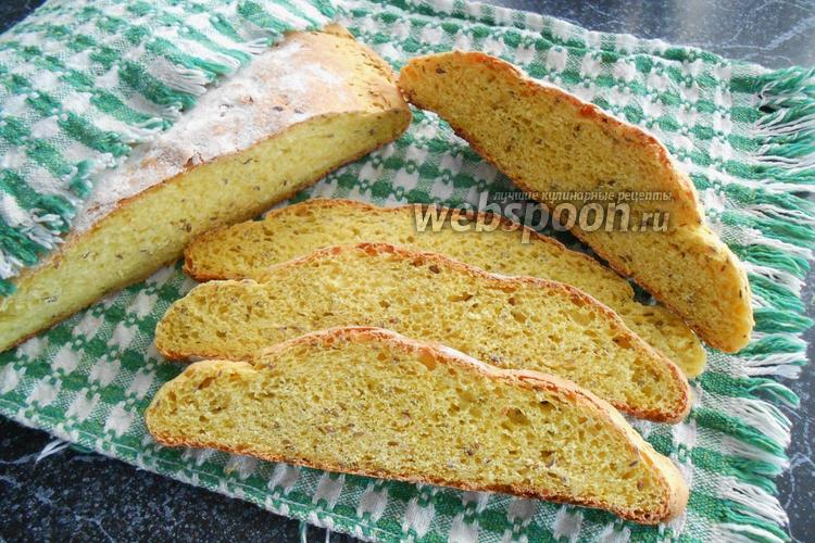 Фото Кукурузный хлеб с семенами льна