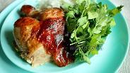 Фото рецепта Запечённая курица фаршированная ароматным маслом
