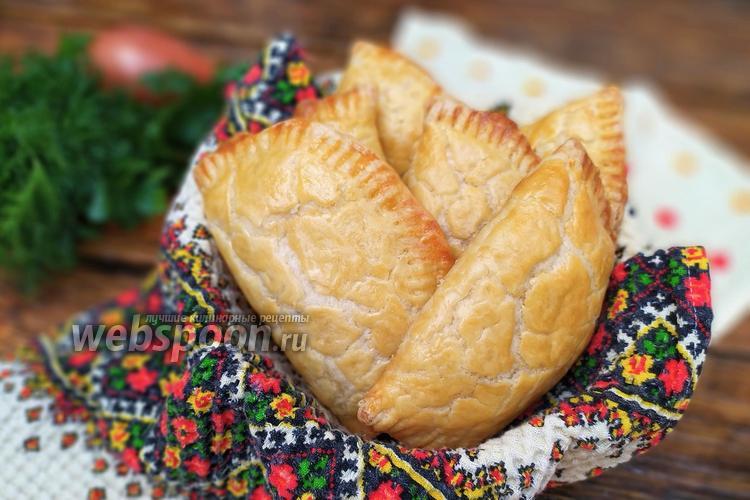 Фото Пирожки с курицей и картофелем из быстрого слоёного теста