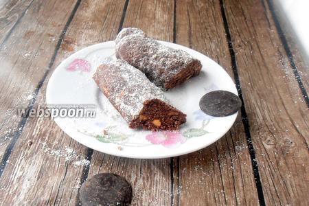 Фото рецепта Ореховая шоколадная колбаса без глютена