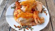 Фото рецепта Сочная курица с томатом и сметаной в духовке