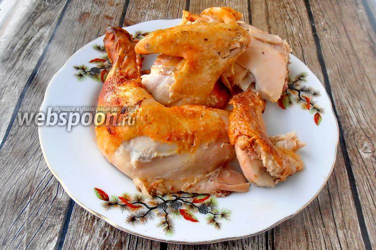 Фото Сочная курица с томатом и сметаной в духовке