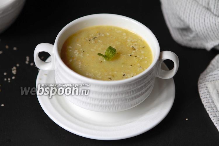 Фото Крем суп из стеблей сельдерея
