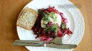 Фото рецепта Салат из овощей и плавленого сырка
