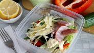 Фото рецепта Салат с беконом и сыром для ланчбокса
