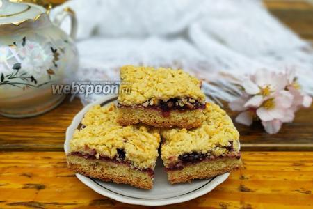 Фото рецепта Тёртый пирог на растительном масле