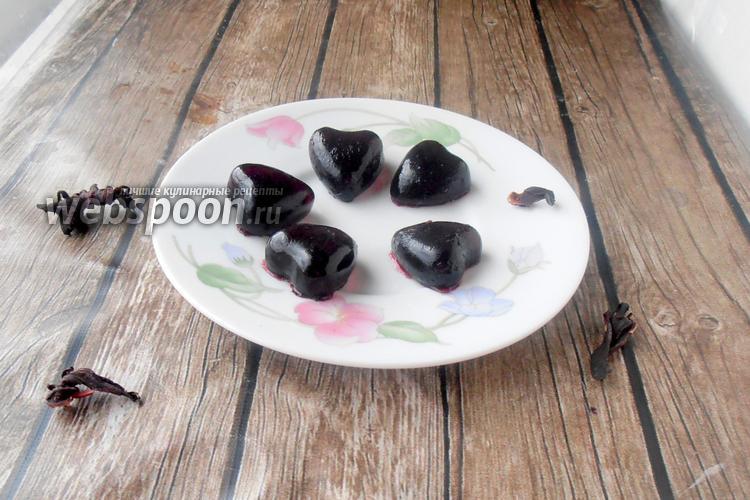 Фото Желейные конфеты из каркаде и лимона