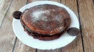 Фото рецепта Шоколадные панкейки на миндальной и кокосовой муке