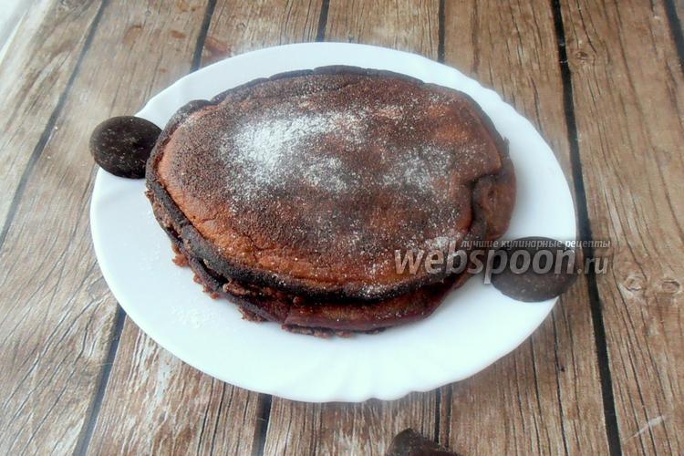Фото Шоколадные панкейки на миндальной и кокосовой муке