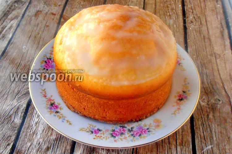 Фото Протеиновый кекс с лимонной глазурью