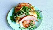 Фото рецепта Хлеб с сыром, овощами и ветчиной