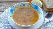 Фото рецепта Рисовый суп с томатом и чесноком
