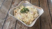 Фото рецепта Салат-закуска из кальмаров и жареных овощей