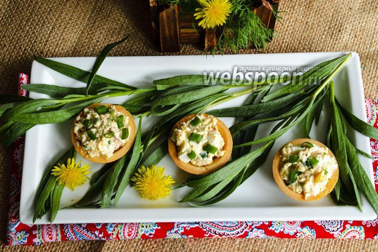 Фото Закусочные тарталетки с печенью трески