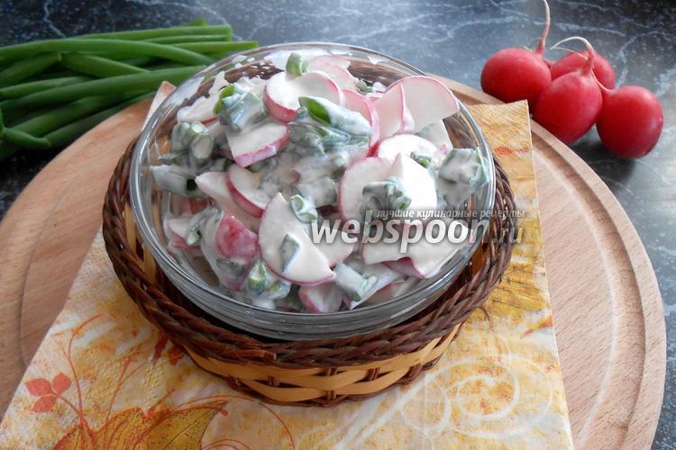 Фото Салат из редиски и зелёного лука