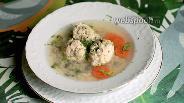 Фото рецепта Суп с куриными фрикадельками и диким рисом