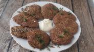 Фото рецепта Оладьи из печени говядины и фарша