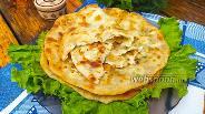 Фото рецепта Заварные лепёшки с творогом и сыром