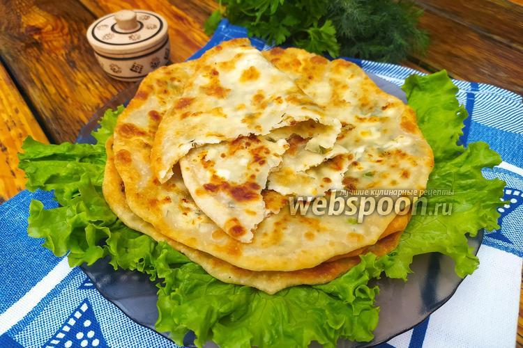 Фото Заварные лепёшки с творогом и сыром