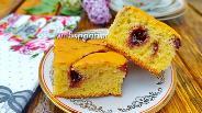 Фото рецепта Бисквитный пирог с вареньем