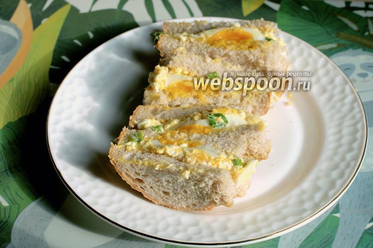 Фото Японский яичный сэндвич