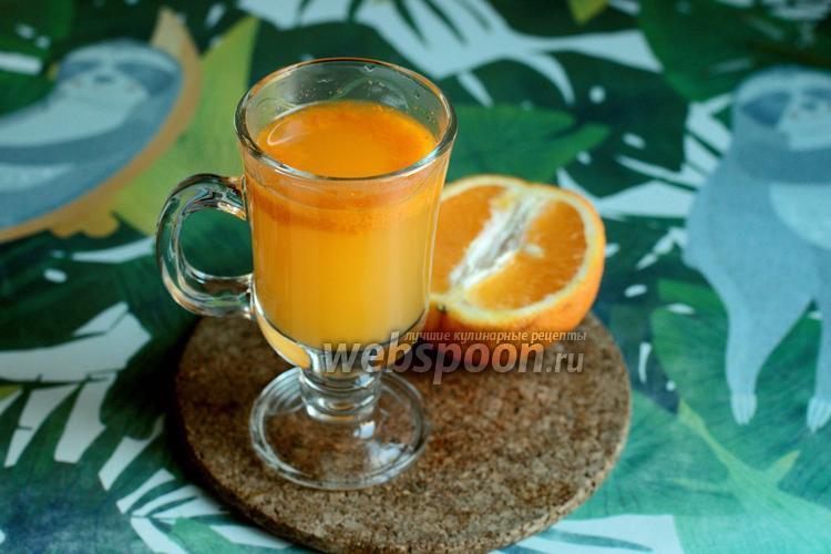 Фото Облепиховый напиток с апельсином в термосе