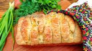 Фото рецепта Разборной хлеб с зелёным луком и сыром