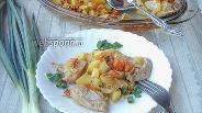 Фото рецепта Куриное филе с картошкой и овощами запеченное в сливках и соевом соусе
