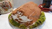 Фото рецепта Торт Монастырская изба с мхом