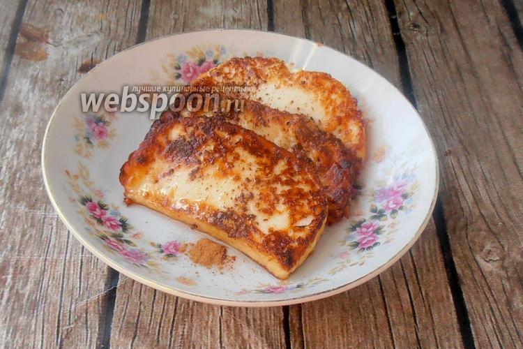 Фото Жареный адыгейский сыр с ванилью и корицей