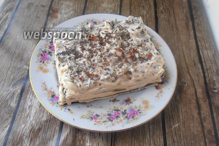 Фото Кето торт с творожно-сливочным кремом