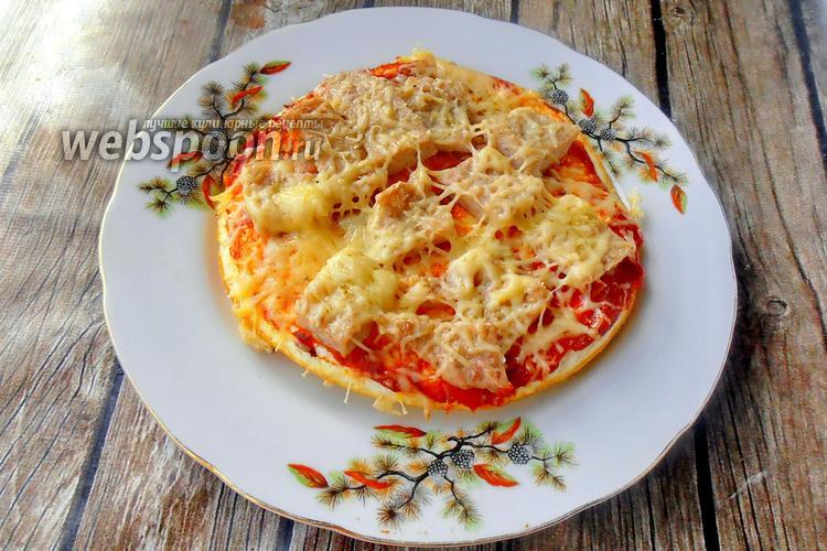 Фото Кето пицетта без муки с ветчиной и сыром