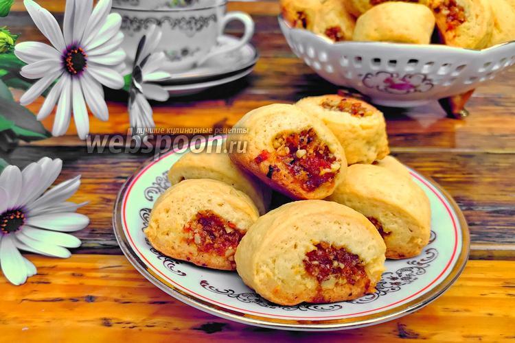 Фото Печенье с сухофруктами и орехами