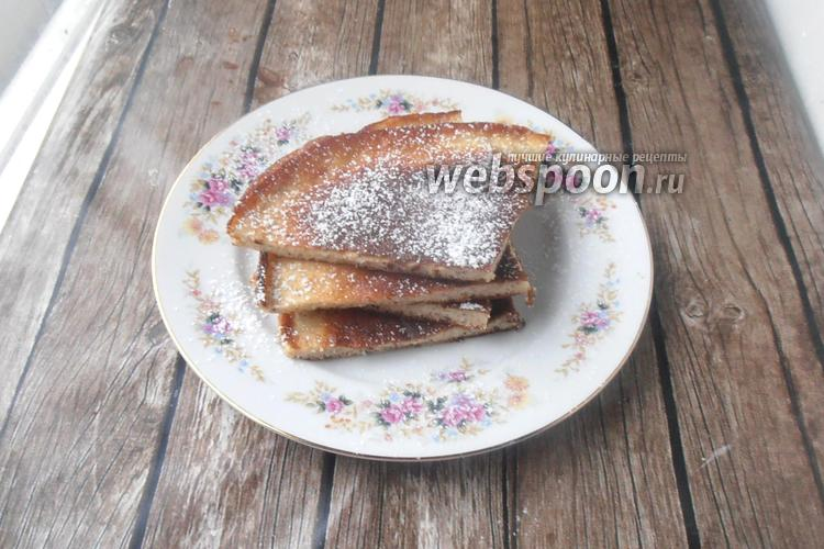 Фото Десертная лепёшка без муки с кокосовой стружкой