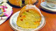 Фото рецепта Кекс на воде и растительном масле с цукатами и изюмом