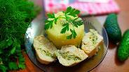 Фото рецепта Куриное филе, фаршированное сыром и зеленью в духовке