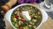 Фото рецепта Окрошка с варёной колбасой на квасе