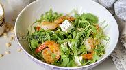 Фото рецепта Салат с креветками и Фетой
