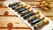Фото рецепта Хрустящие палочки с шоколадом и орешками