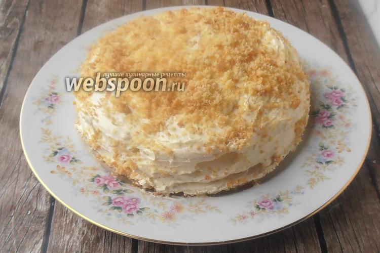 Фото Ореховый торт без глютена с безе