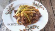 Фото рецепта Подлива из куриных сердечек с кабачками